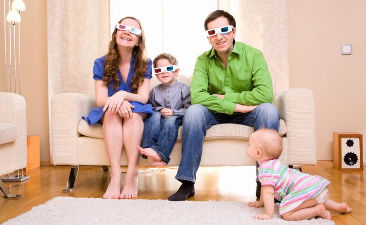 просмотр 3D фильма всей семьёй
