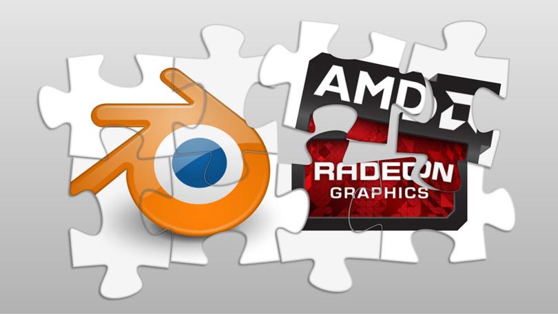 Иллюстрация на тему «Blender + AMD GPU»