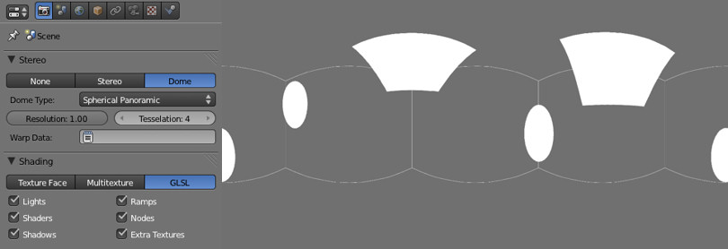 Панель Properties программы Blender и готовая развёртка