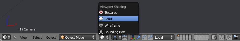 Режим отображения геометрии сцены Viewport Shading - Solid