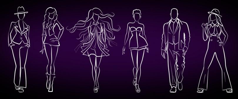 Окончательные варианты фигур моделей
