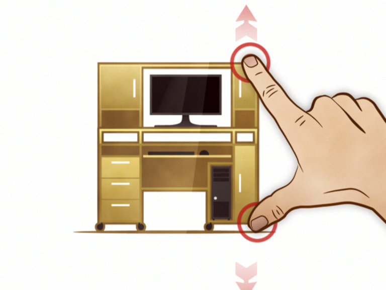 Кадр рекламного анимационного ролика «Мебельная ярмарка»