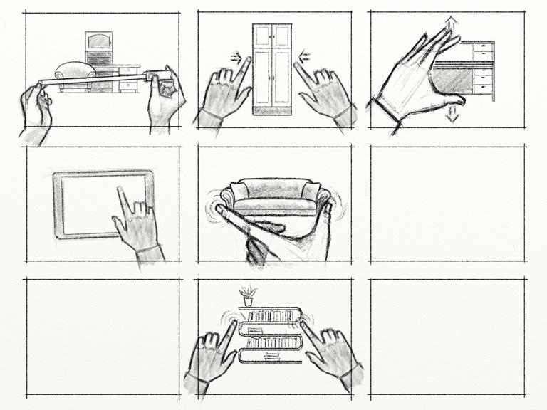 Раскадровка рекламного анимационного ролика «Мебельная ярмарка»