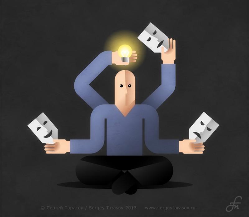 Иллюстрация на тему «Генерация идей»