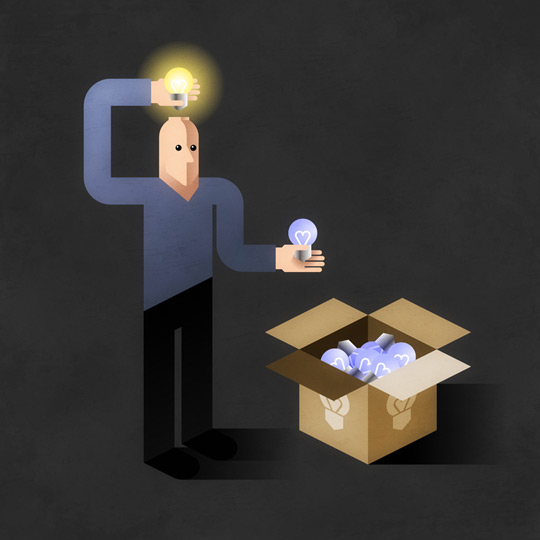 Иллюстрация на тему «Вдохновение по требованию»