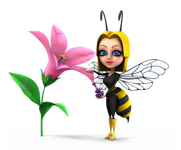 «мультяшный» персонаж пчелы
