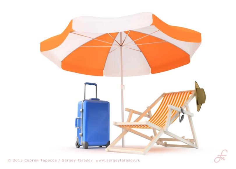 Иллюстрация на тему летнего отдыха