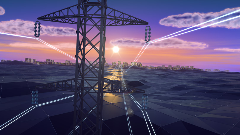 Кадр заставки фильма «НЭСК-Электросети»