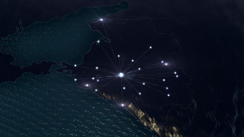 Кадр с инфографикой для фильма «НЭСК-Электросети»