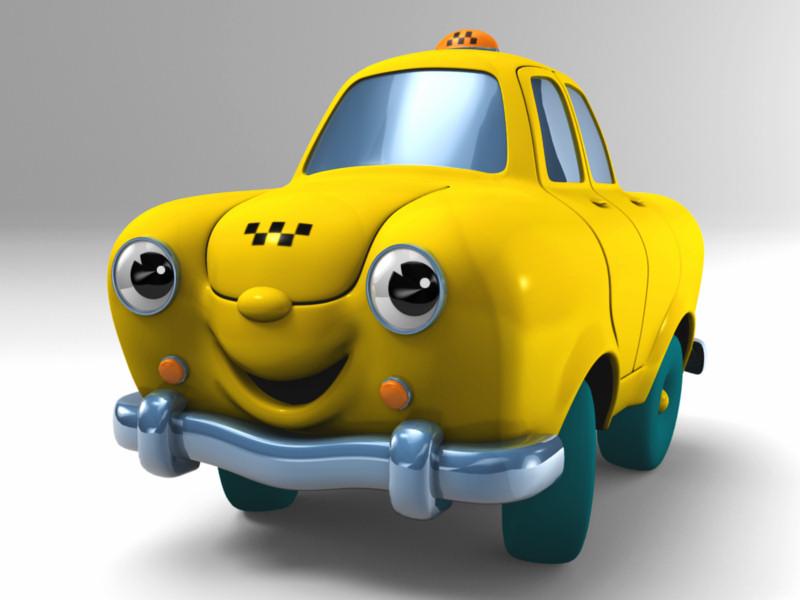 Вариант визуализации анимационного 3D-персонажа такси «Сатурн»